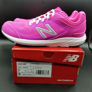 New Balance 519 Shoe Size:7 Pink/Silver Girl's